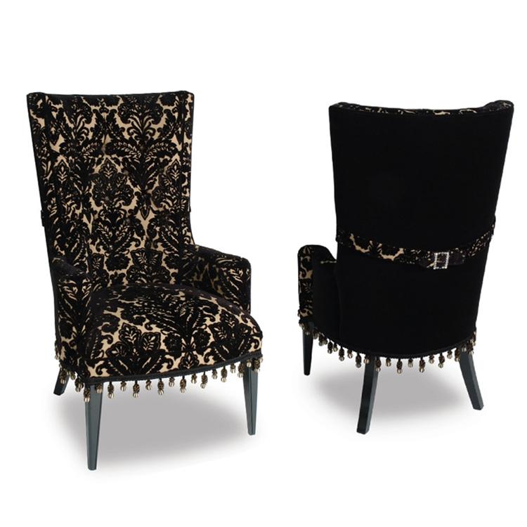 Superieur Hollywood Glam Furniture   Black Velvet Damask   Haute House