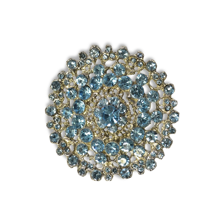 Haute House Home Accessories Bling Brooches Grand Light Blue Brooch
