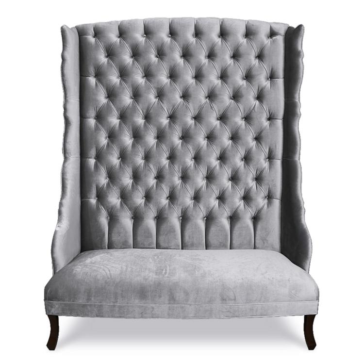 Hathaway Channel White Velvet Sofa