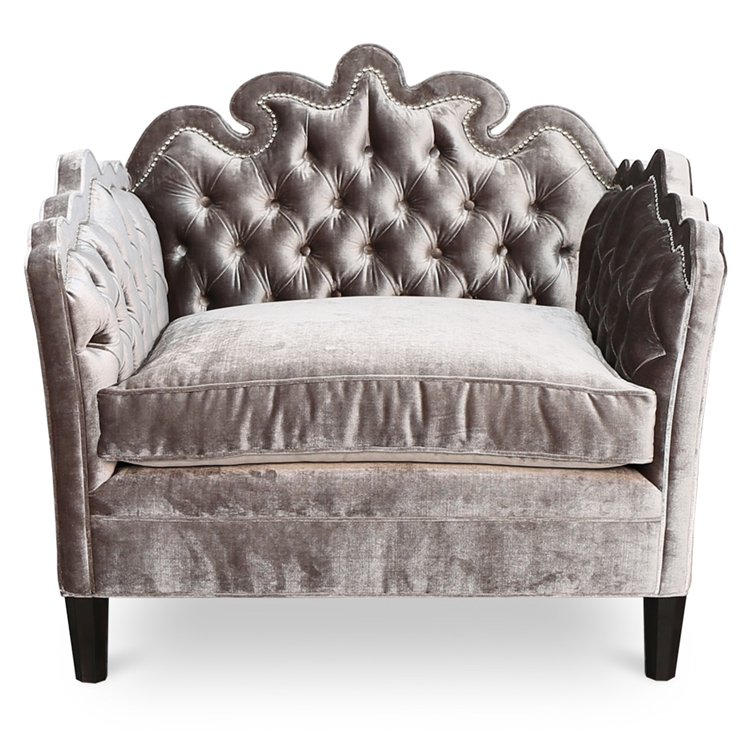 sc 1 st  Haute House & Bella Tufted Chair - Tufted Grey Velvet Chair - HauteHouseHome