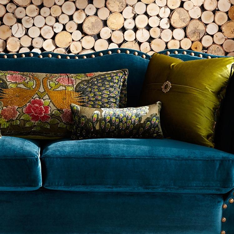 Marvelous Santiago Peacock 5 Pc Pillow Set Dailytribune Chair Design For Home Dailytribuneorg