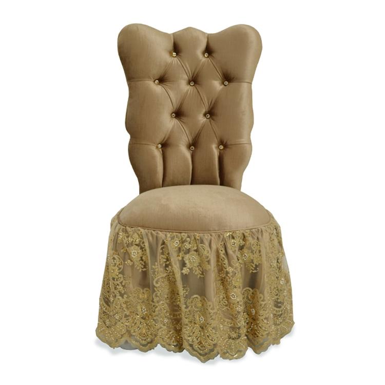 Farfalla Gold Vanity Chair