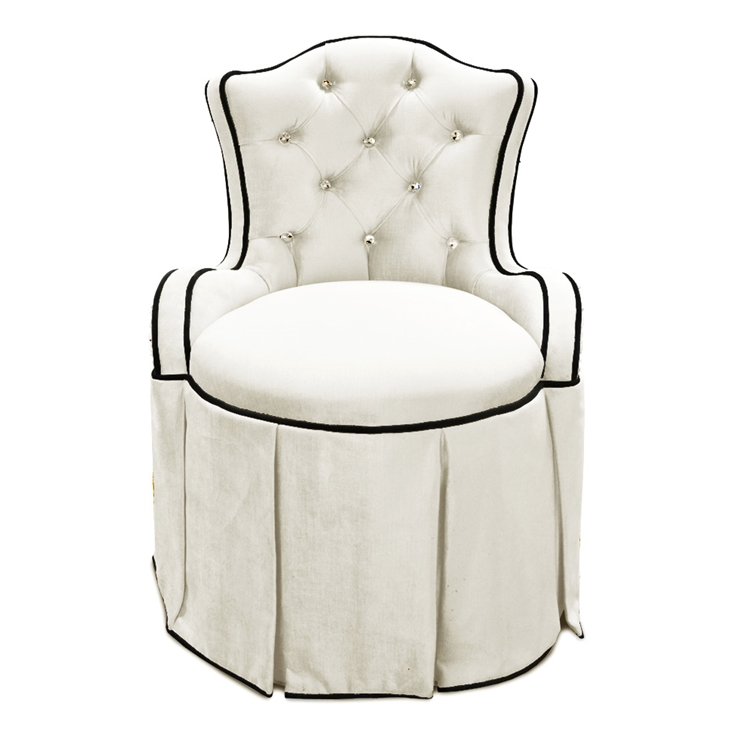 white chair for vanity.  Tufted Vanity Chair Hollywood Glam Haute House Home