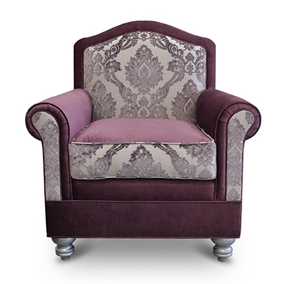 Le Mini Plum Velvet Chair