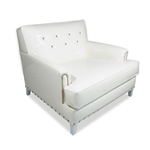 Mod Squad White Hollywood Glam Chair