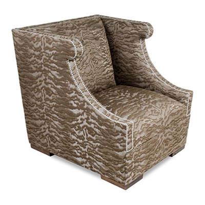 Drake Choclate Animal Print Chair