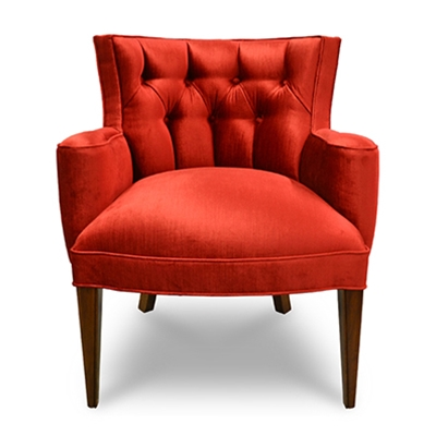 Tiffany Damask Chair - Red Velvet - Haute House Home