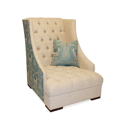 Modern Tufted Natural Linen Chair - Glamorous Furniture
