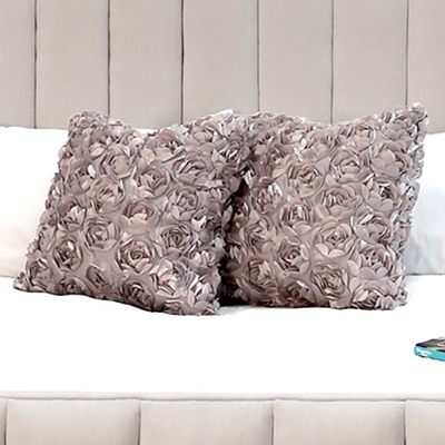 Roseta Grey Floral Pillow