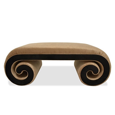 Haute House Home | Ottomans and Benches |  Scroll Ottoman