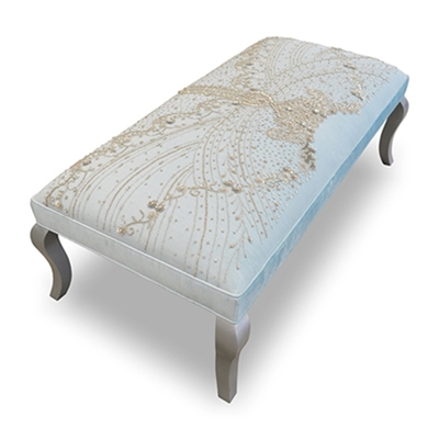 Haute House Home | Ottomans and Benches | Butterfly Bodice Bench