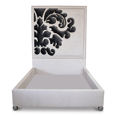 Belvedere White Damask Wall Bed