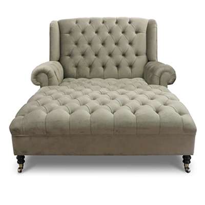 Smith Tufted Velvet Chaise