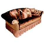 Chantilly Chocolate Velvet Sofa