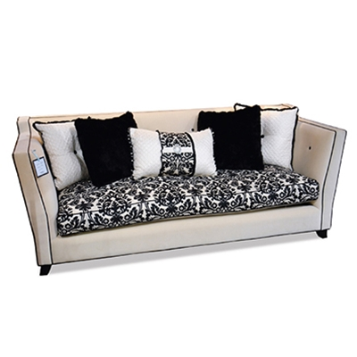 Couture Cream Velvet Sofa