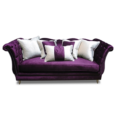 Gigi Purple Velvet Sofa