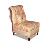 Harp Linen Armless Chair