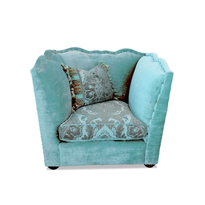 Santiago Teal Velvet Chair