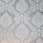 Haute House Home | Fabrics | Pattern | White Damask Velvet