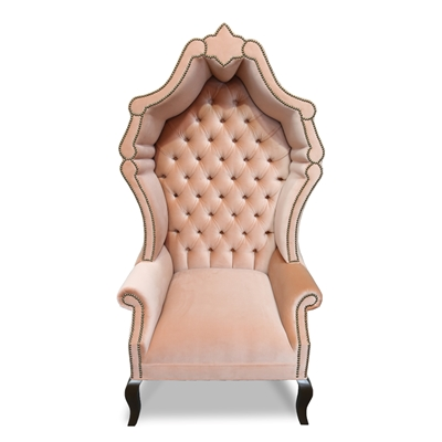 Antoinette Lavender Velvet Hollywood Glam Chair