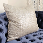 Stardust Silver Sequin Pillow