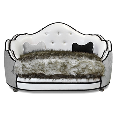 Pantages White Vinyl Pet bed