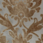 Cheshire Latte - Damask Velvet Fabric