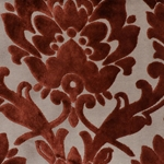 Cheshire Henna - Damask Velvet Fabric