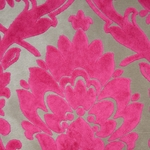 Cheshire Fuschia - Damask Velvet Fabric