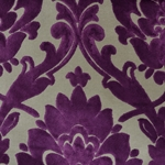 Cheshire Grape - Damask Velvet Fabric