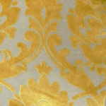 Cheshire Yellow - Damask Velvet Fabric