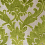 Cheshire Grass - Damask Velvet Fabric
