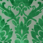 Cheshire Emerald - Damask Velvet Fabric