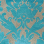 Cheshire Peacock - Damask Velvet Fabric