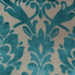 Cheshire Laguna - Damask Velvet Fabric