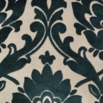 Cheshire Azure - Damask Velvet Fabric