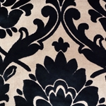 Cheshire Navy - Damask Velvet Fabric