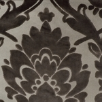 Cheshire Smoke - Damask Velvet Fabric