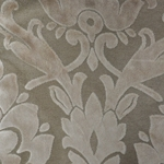 Cheshire Vanilla - Damask Velvet Fabric