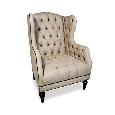 Duncan Fyfe Linen Wing Chair