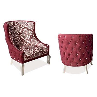 Edge Plum Velvet Chair
