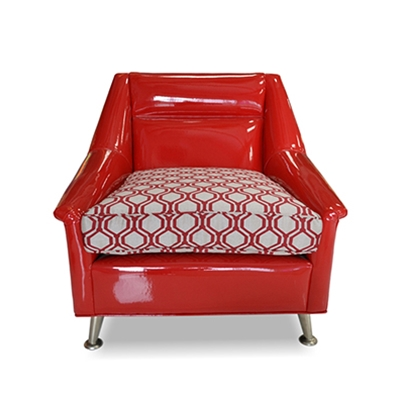 Elroy Red Vinyl Chair
