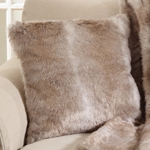 Animal Style Faux Fur Natural Pillow