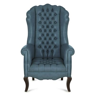 Ariel Dark Teal Leather Chair
