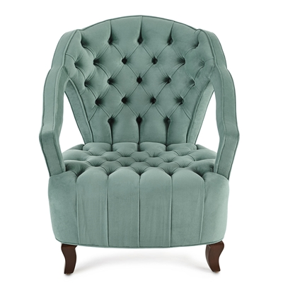 Azurinel Tufted Velvet Chair