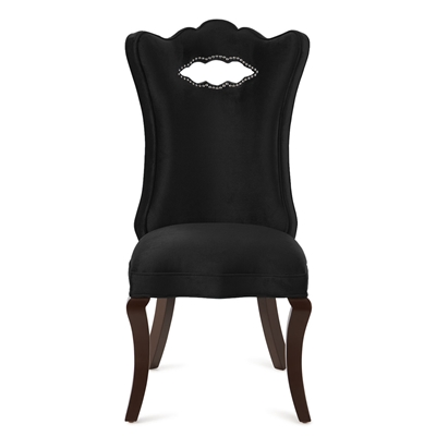 Celeste Black Velvet Dining Chair