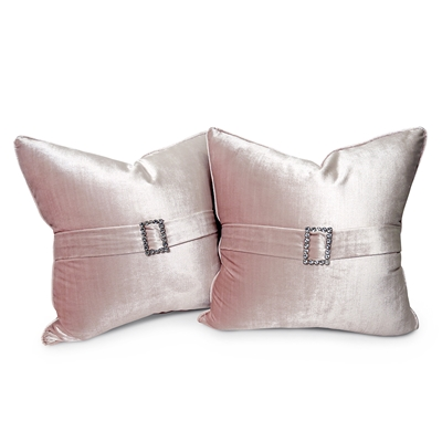 Buckle Up Shimmer Velvet Pillow Set