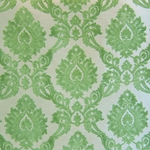 Haute House Home | Fabrics | Pattern | Apple Green Velvet