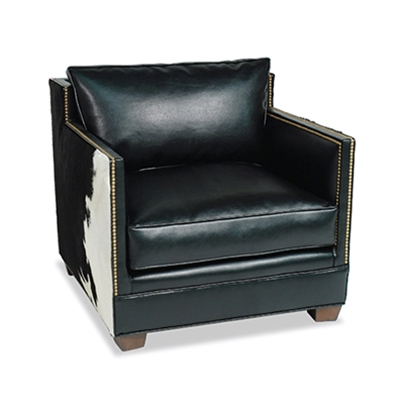Gramercy Black Leather Chair