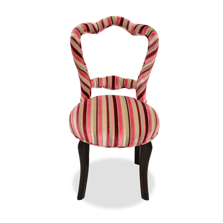 Candy Cane Stripe Velvet Accent Chair